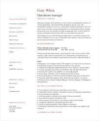 operations manager resume sample example format security operations manager resume sample