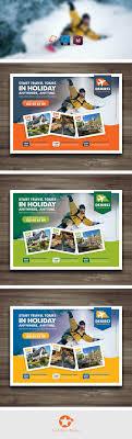 travel tours flyer templates on behance