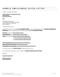 fantastic offer letter templates employment counter offer job offer letter 15