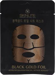 <b>Skinlite Маска</b> для лица Черное золото, <b>фольгированная</b> ...