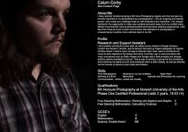 calum corby photography resume