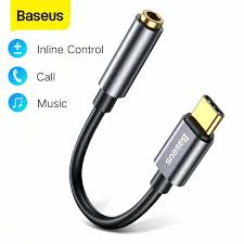 <b>Baseus Type C Male</b> to 3.5mm Female Adapter Converter ...