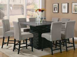 counter height round dining table sets adorable black hardwood square dining table and furniture room idea co