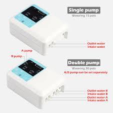 1Set Garden Intelligent <b>Drip irrigation system</b> Double pump Solar ...
