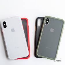 Anti-knock Armor Transparent <b>Matte Hard Case</b> for iPhone X, XS ...