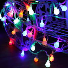 Lighting <b>LED Battery Box</b> Round <b>Ball</b> String Light Christmas Xmas ...