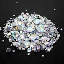 Online Shop Crystal AB <b>Mixed Sizes 1000pcs</b> Round Acrylic Loose ...