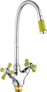 """<b>Смеситель</b> """"<b>РМС</b>"""", с высоким изливом, цвет: хром, зеленый ..."""