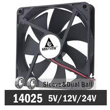 <b>Gdstime 14cm 140mm</b> 5V 12V 24V PC Computer Case Fan Laptop ...