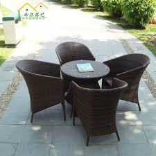 five piece wicker chair parure combination of plastic rattan outdoor balcony patio furniture desk cheap plastic patio furniture