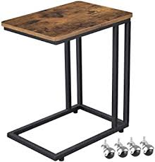 VASAGLE Industrial Side Table, End Table for Coffee ... - Amazon.com