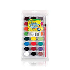 Crayola <b>24</b> Washable Watercolours, School, Craft, <b>Painting</b> and Art ...