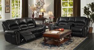 black living room furniture sets leather arms