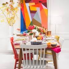 design a calm yet colorful dining room around artwork art deco dining 13