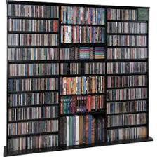 leslie dame natural oak veneer open wall multimedia storage rack cds furniture