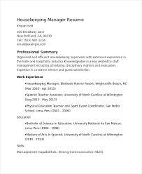 supervisor resume template     free word  pdf document downloads    housekeeping supervisor resume