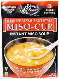 <b>Edward & Sons</b> Japanese Restaurant Style <b>Miso Cup</b> Soup Gluten ...