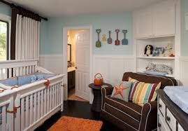 this darling beach inspired nursery for twin boys was designed by little crown interiors out of southern california custom serena lily bedding was boy nursery furniture
