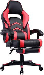 Gaming Chair with Footrest and <b>Reclining</b> Backrest, <b>Racing</b> Style ...