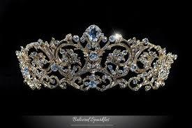 Matilda Vintage Victorian Swarovski <b>Crystal</b> Gold Tiara, Royal Reign ...