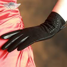2019 <b>KLSS Brand Genuine Leather</b> Women Gloves Elegant Lady ...
