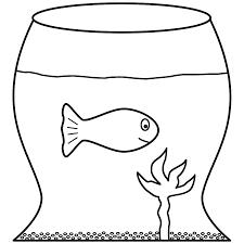 fish bowl coloring pages com coloring goldfish page fish bowl