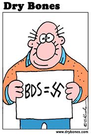 Risultati immagini per bds is antisemitic cartoonù