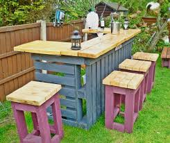 diy pallet patio furniture pallet bar table and stools 20 outdoor pallet furniture diy ideas and bedroomlicious patio furniture