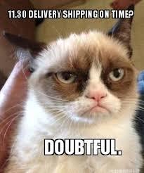 Meme Maker - 11.30 DELIVERY SHIPPING ON TIME? DOUBTFUL. Meme Maker! via Relatably.com