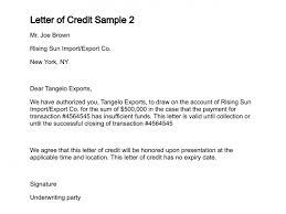 letter of creditletter of credit sample   ‹ ›
