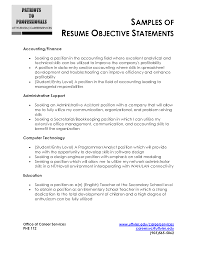 accountant resume objective examples shopgrat cover letter samples of resume objective statements for accounting administrative support and computer technology