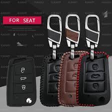 <b>KUKAKEY</b> Car Key Bag Case Cover Keychain For Seat Leon fr Ibiza ...