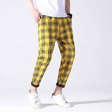 GODLIKE Men's <b>new</b> foreign trade plaid trousers, teenage <b>fashion</b> ...