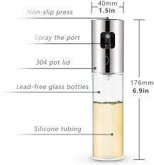 EXTSUD <b>Oil Sprayer</b> Dispenser, Portable 304 <b>Stainless Steel</b> ...