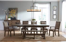 Kincaid Dining Room Sets Rustic Solid Wood Dining Bench With Burnished Gray Finish By