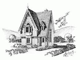 Gothic Revival House Plan   Square Feet and Bedrooms from    Front
