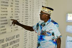 special report national black history month  navy veteran nelson mitchell believed to be the oldest living african american survivor of the attack on pearl harbor reflects in the shrine room of the