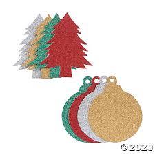 <b>Glitter Christmas Shapes</b> | Oriental Trading