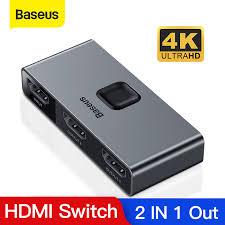 <b>Baseus HDMI Splitter 4K</b> 60Hz Bi Direction HDMI Switch 1x 2/2X1 ...