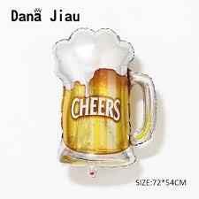 New big <b>cheers</b> Beer Cup Foil Balloon Bar <b>New Year</b> Happy ...