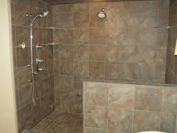 spa bathroom showers:  pictures of porcelain tile in a shower