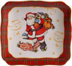 "<b>Тарелка десертная квадратная</b> Certified Int. ""Винтажный Санта ..."