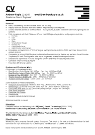 brilliant lance sound engineer cv resume template featuring brilliant lance sound engineer cv resume template featuring personal information and employment