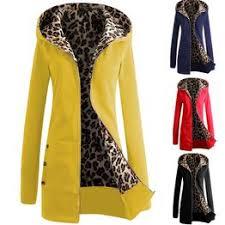 Women's Fashion Autumn Zipper Hooded Leopard Hoodie ... - Vova