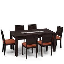 kitchen table sets bo: brighton oribi  seater dining table set mahogany finish burnt orange