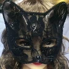 Lace Animal Masks Cat Mask <b>Party Halloween</b> Mask Half Face Sexy ...