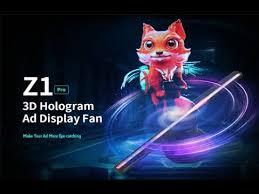 <b>Alfawise Z1 Pro 3D</b> Hologram Advertising Display Fan Projection ...
