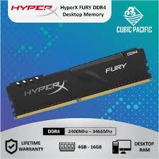 <b>Kingston HyperX</b> FURY <b>4GB</b>/8GB/16GB <b>DDR4</b> 2400/ 2666/ 3200 ...