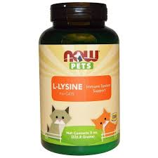 <b>Лизин</b> для кошек, <b>L</b>-Lysine, Now Foods, Now Pets, 226.8 г - в ...