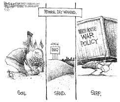 cd 36 election today hahn vs huey a critical memorial day cartoon from matt davies at lohud 2007